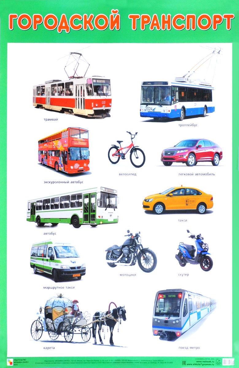 Городской транспорт. Плакат