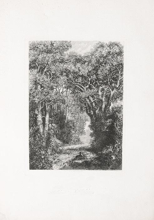 Пейзаж. Офорт. Великобритания, 1880-е годы