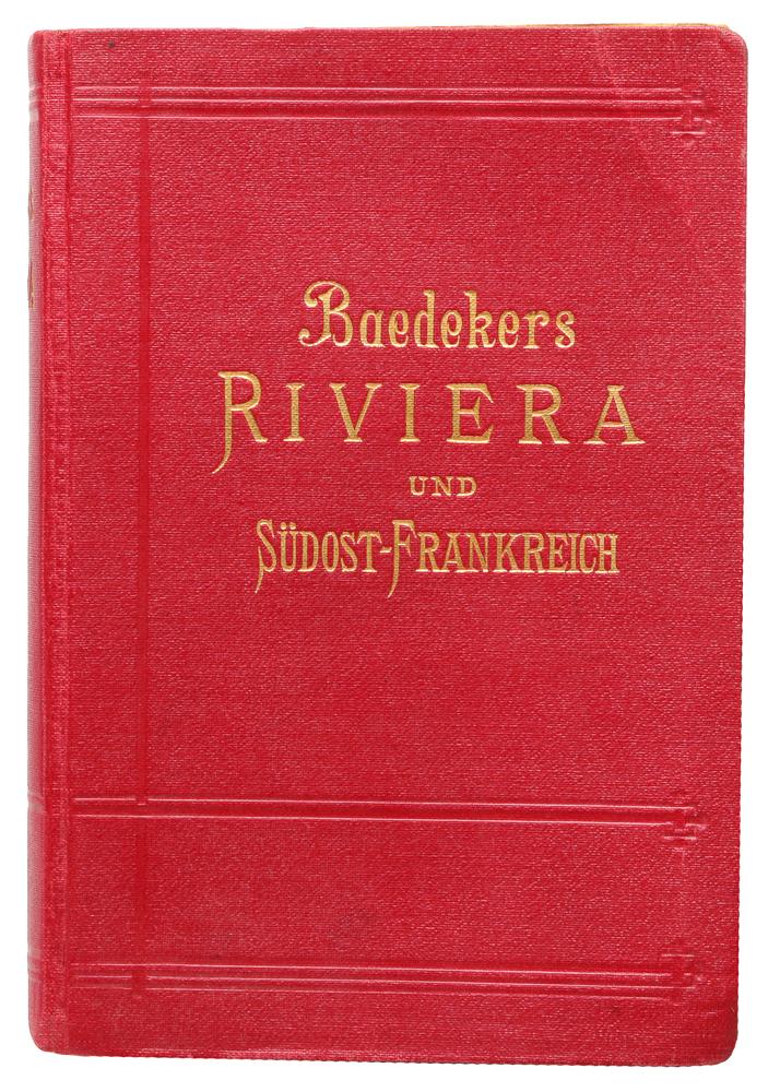 Die Riviera das Sudostliche Frankreich. KorsikaSponge 1300Leipzig. Verlag von Karl Baedeker. Сохранность хорошая