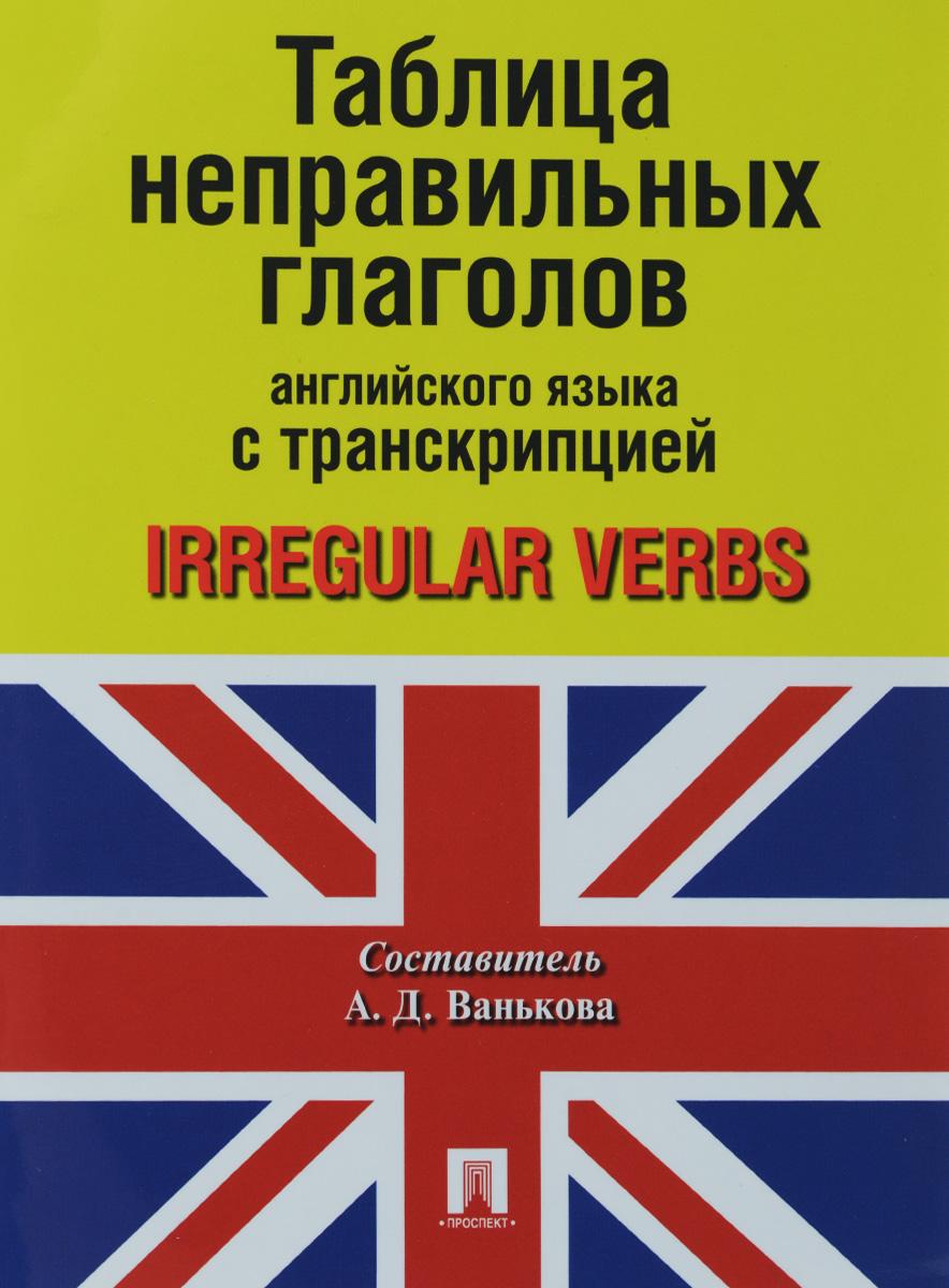 Таблица неправильных глаголов английского языка с транскрипцией / Irregular Verbs