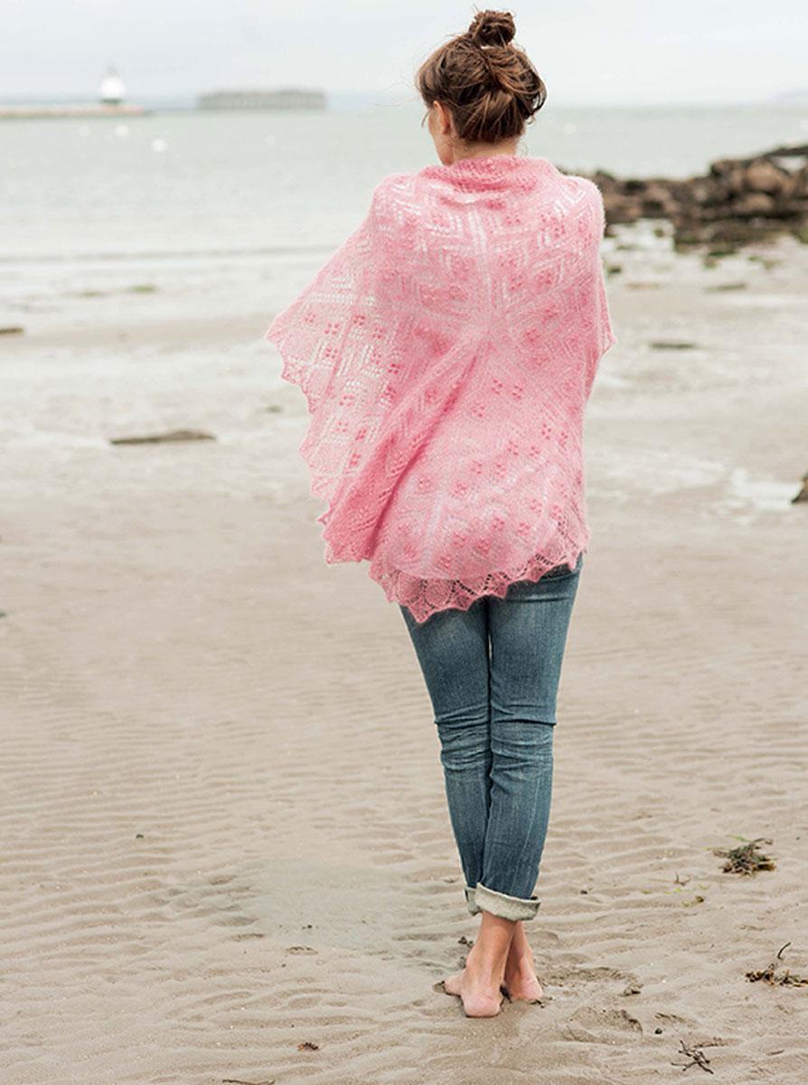Ажурные шали в винтажном стиле. Спицы