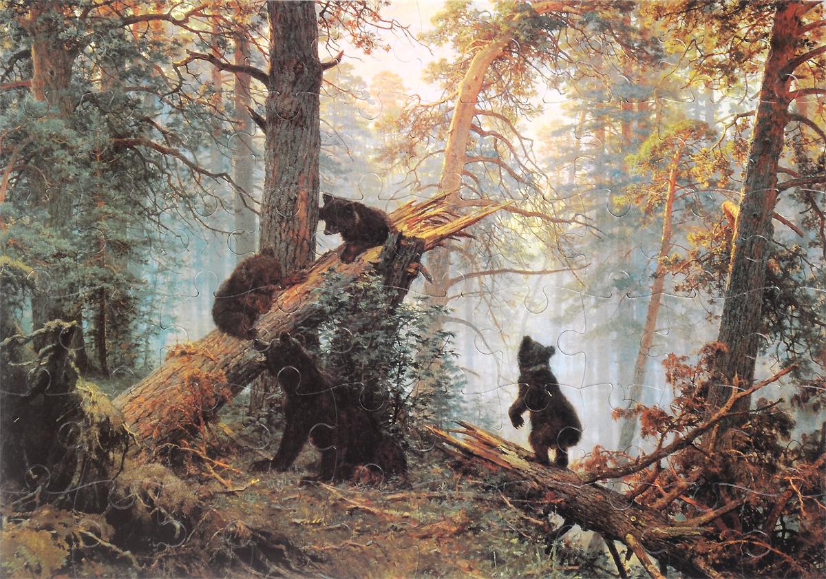 Пазл. Утро в сосновом лесу. Художник И. Шишкин (репродукция/Пазлы)