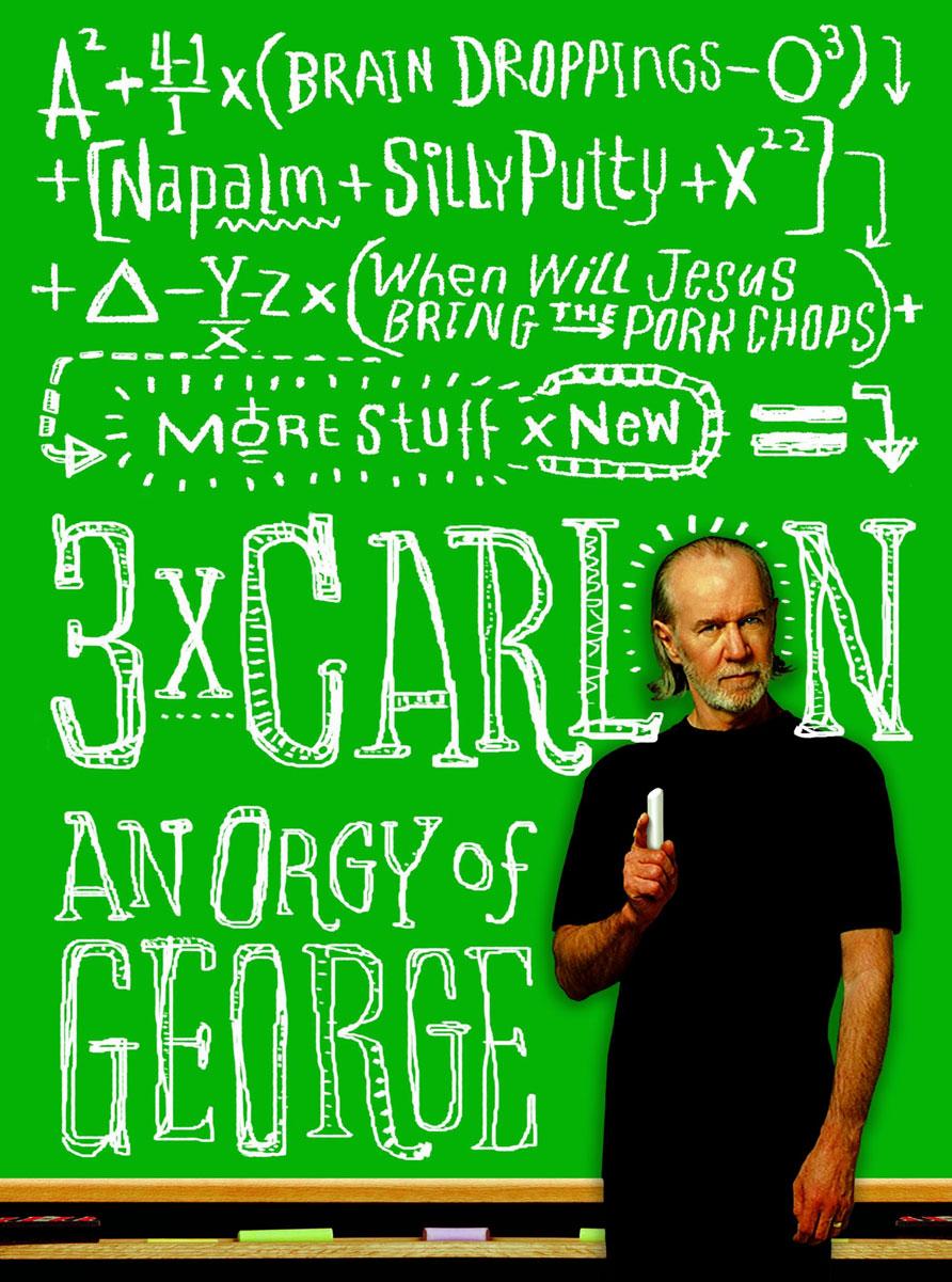 George Carlin 3 x Carlin: An Orgy of George футболка mystery carlin junebug white