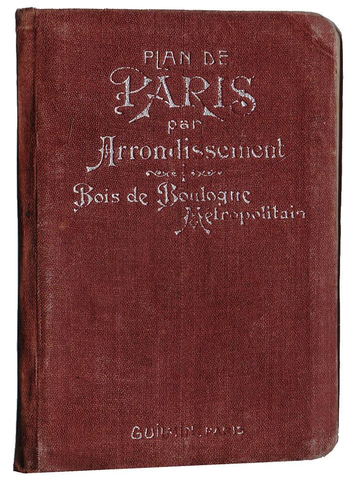 Plan de Paris par arrondissement. Bois de Boulogne. Metropolitain