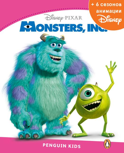 Monsters Inc, адаптированная книга для чтения, Уровень 2 + код доступа к анимации Disney