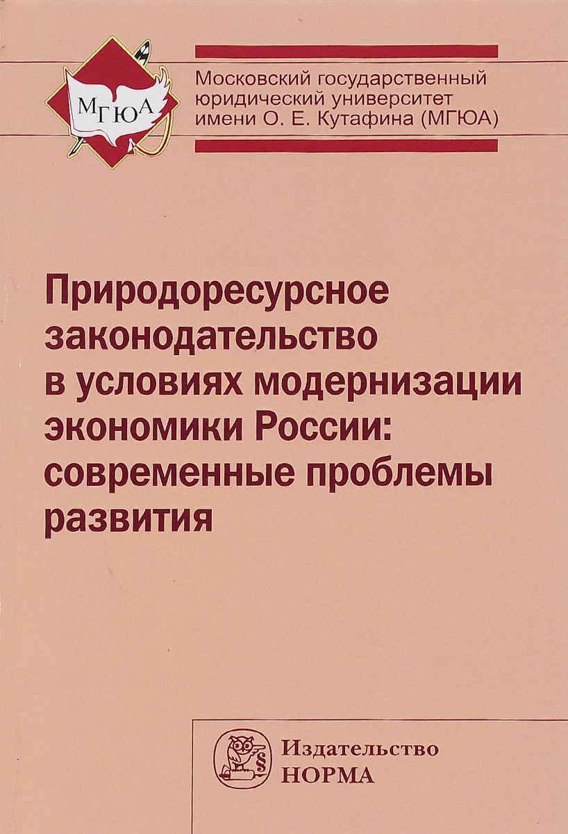 Природоресурсное законодательство в условиях модернизации экономики России. Современные проблемы развития ( 978-5-91768-457-4, 978-5-16-009501-1 )