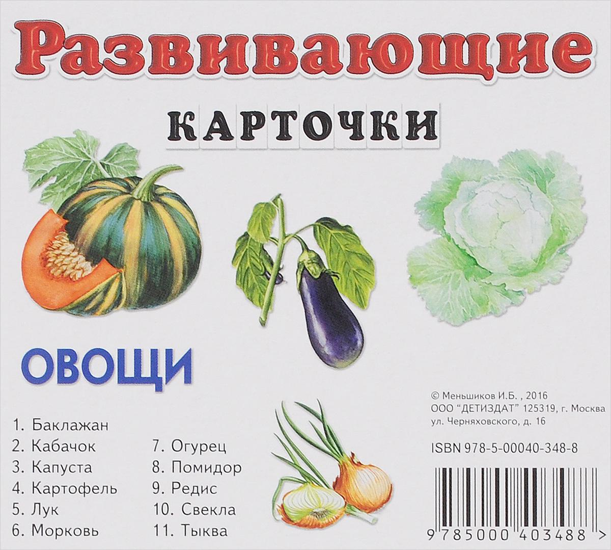 Овощи. Развивающие карточки (набор из 11 карточек) ( 978-5-00040-348-8 )