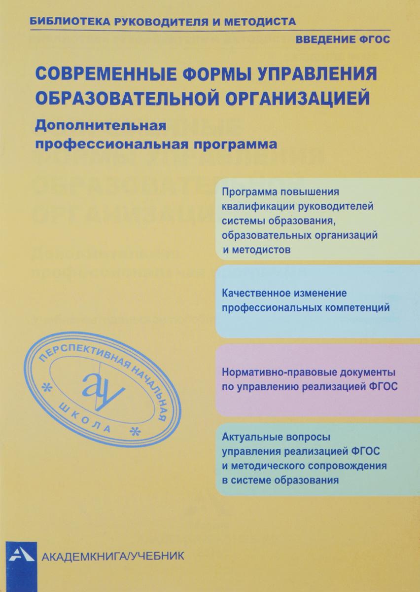 Современные формы управления образовательной организацией. Дополнительная профессиональная программа. Учебно-методическое пособие