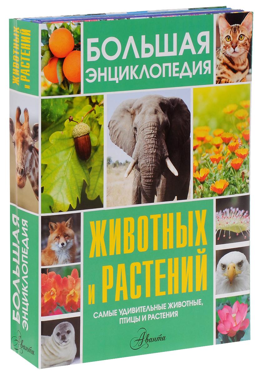 Большая энциклопедия животных и растений (комплект из 3 книг)