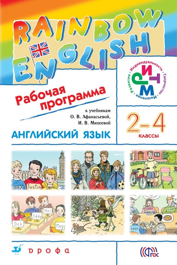 Английский язык. 2-4 класс. Рабочая программа
