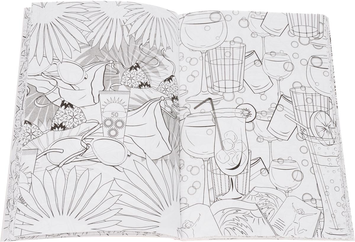 Лето. Мини-раскраска-антистресс для творчества и вдохновения