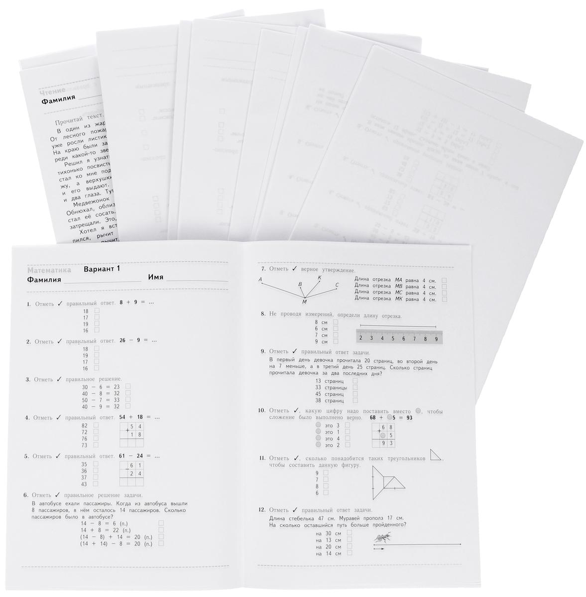 Русский язык. Математика. Чтение. 2 класс. Проверочные тестовые работы. Дидактические материалы