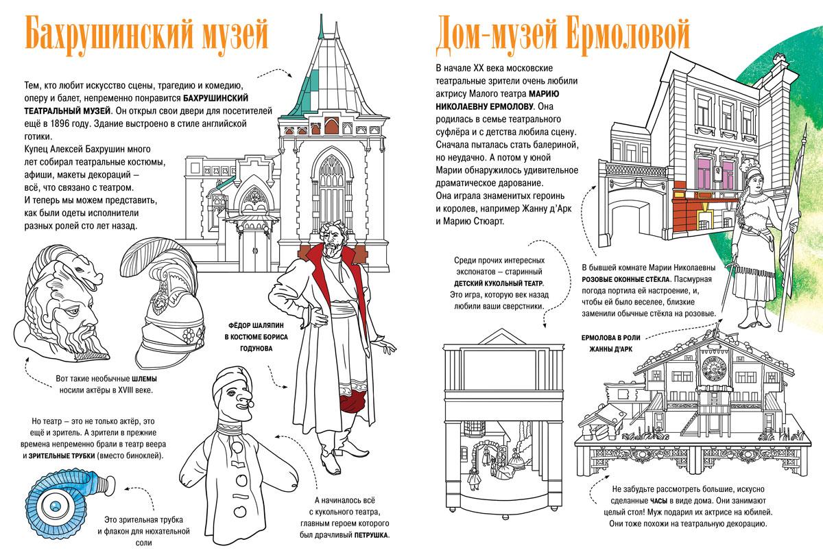 Музеи Москвы. Искусство. Раскраска-путеводитель