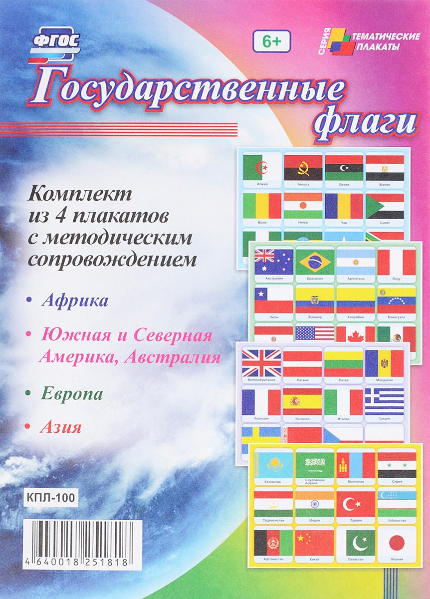 Государственные флаги (комплект из 4 плакатов)