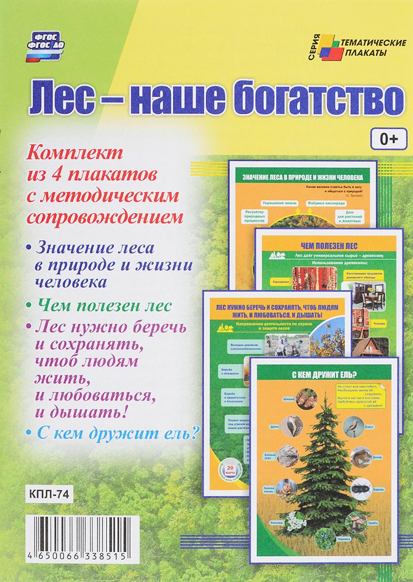 Лес - наше богатство (комплект из 4 плакатов)