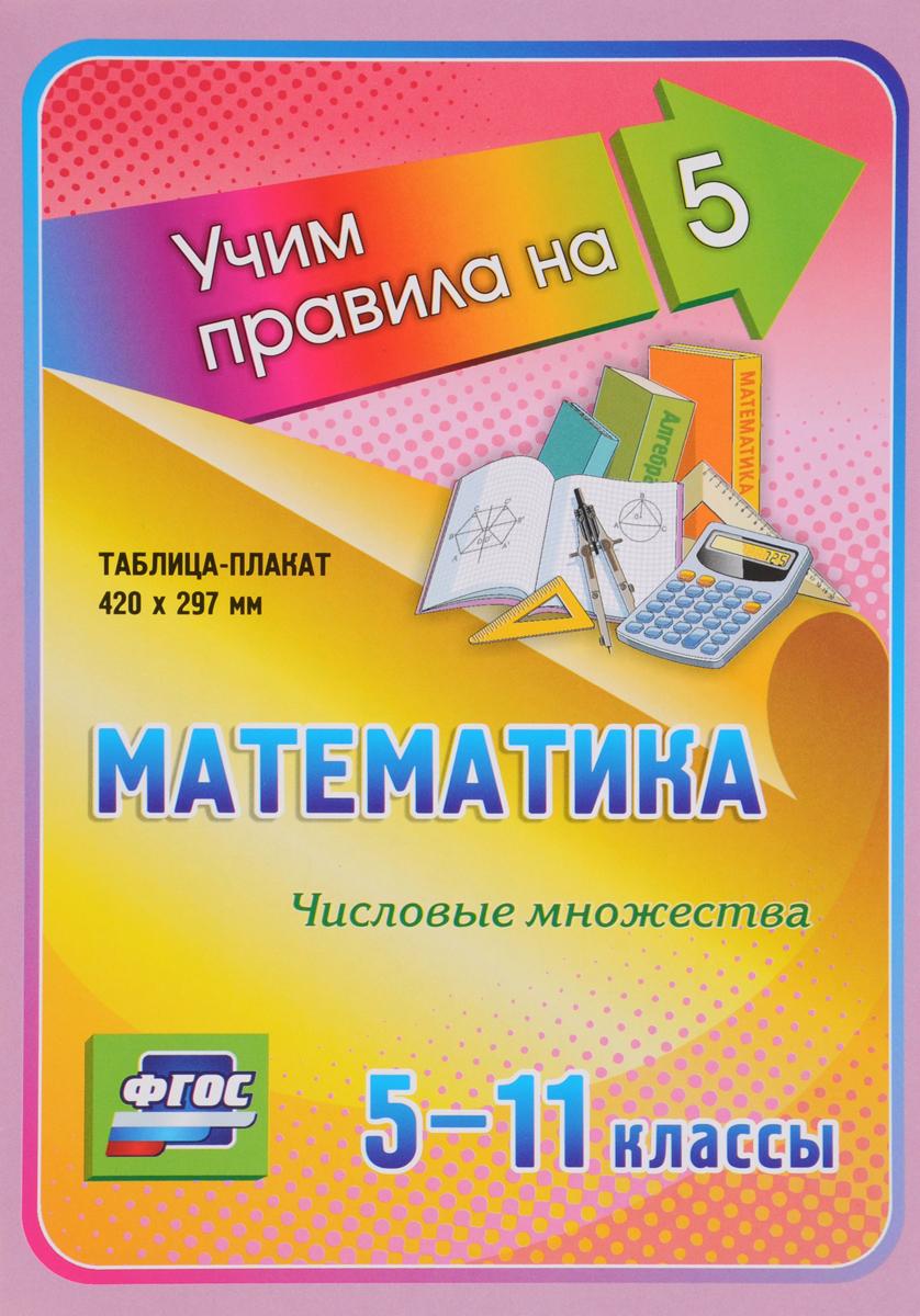 Математика. 5-11 классы. Числовые множества. Таблица-плакат