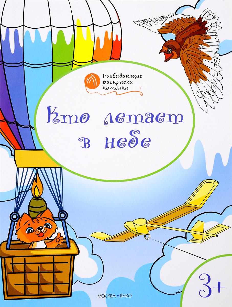 Кто летает в небе. Развивающие раскраски для детей 3-4 лет