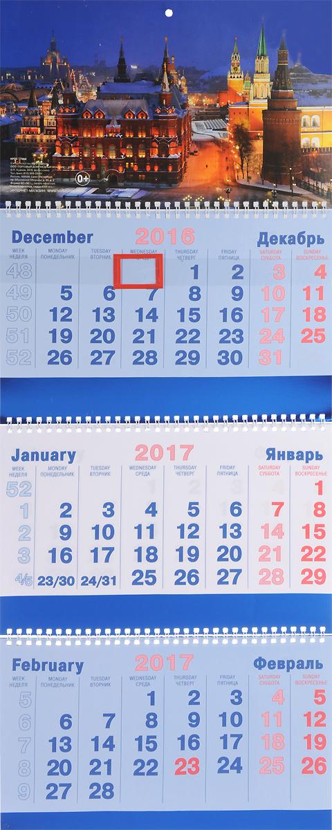 Календарь 2017 (на спирали). Ночная Москва