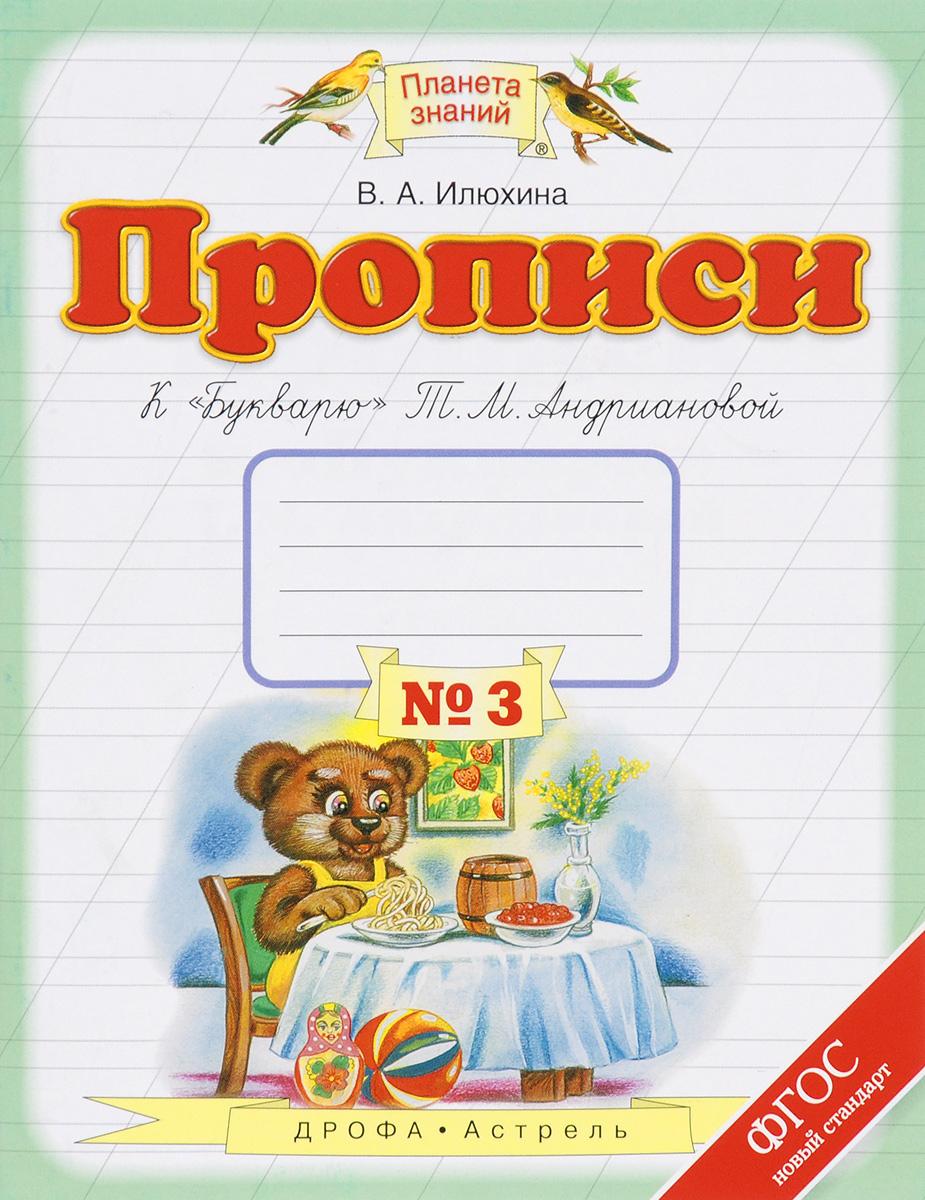 """Прописи к """"Букварю"""" Т. М. Андриановой. 1 класс. В 4 тетрадях. Тетрадь №3"""