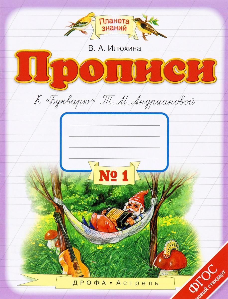 """Прописи к """"Букварю"""" Т. М. Андриановой. 1 класс. В 4 тетрадях. Тетрадь №1"""