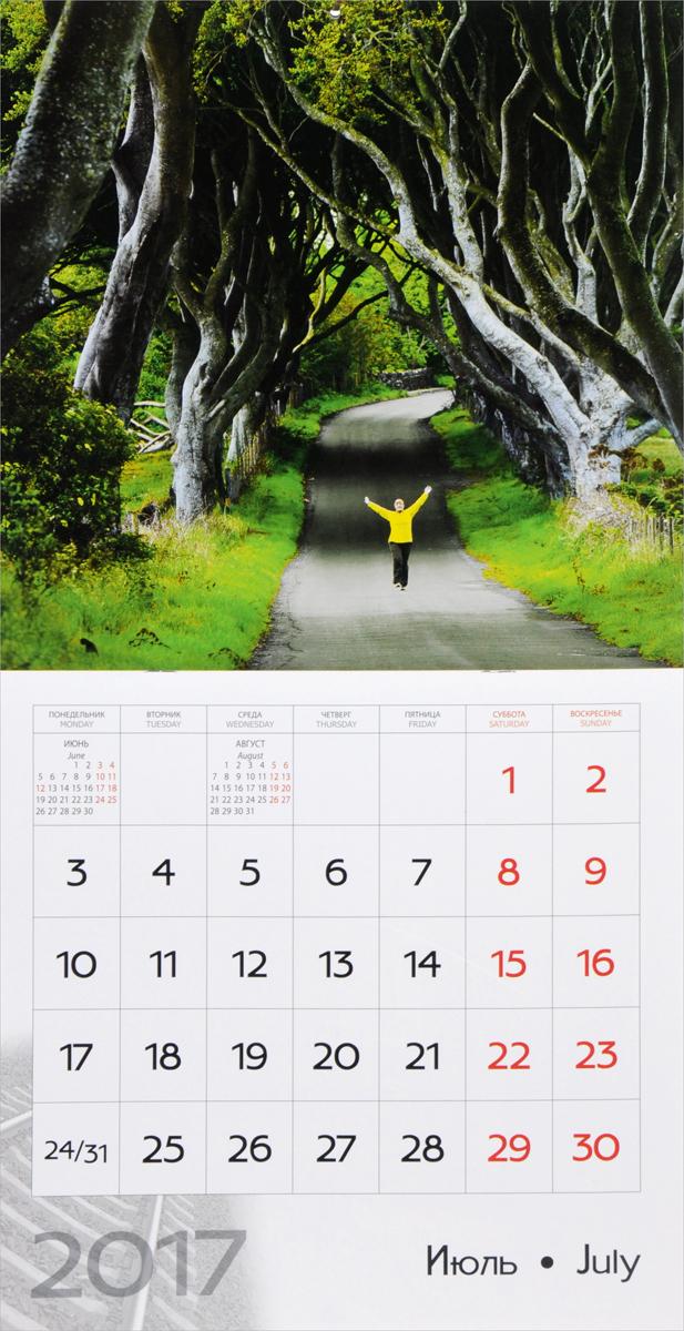 Календарь 2017 (на скрепке). Романтика дорог / Romance of Roads