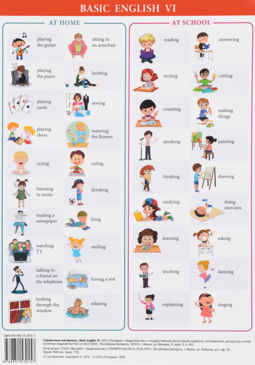 Basic English VI. Справочные материалы