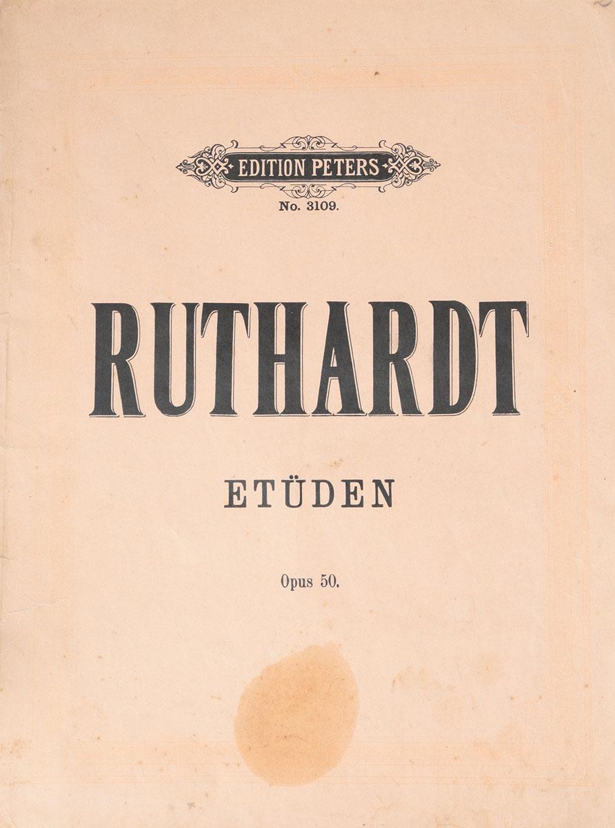 Adolf Ruthardt. Etueden fuer pianoforte. Opus 50