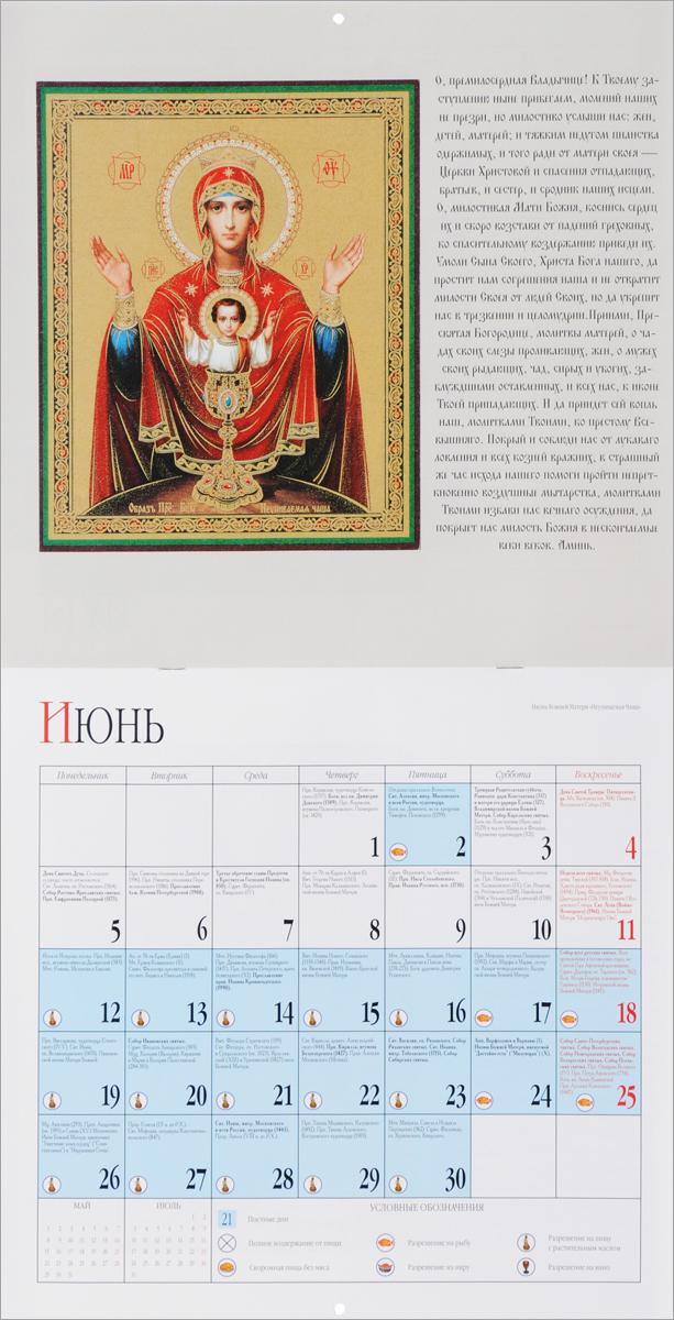 Календарь 2017 (на скрепке). Исцеляющая икона