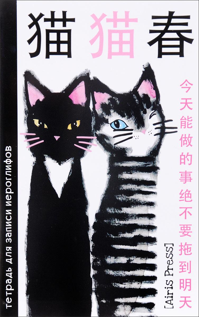 Два кота. Тетрадь для записи иероглифов