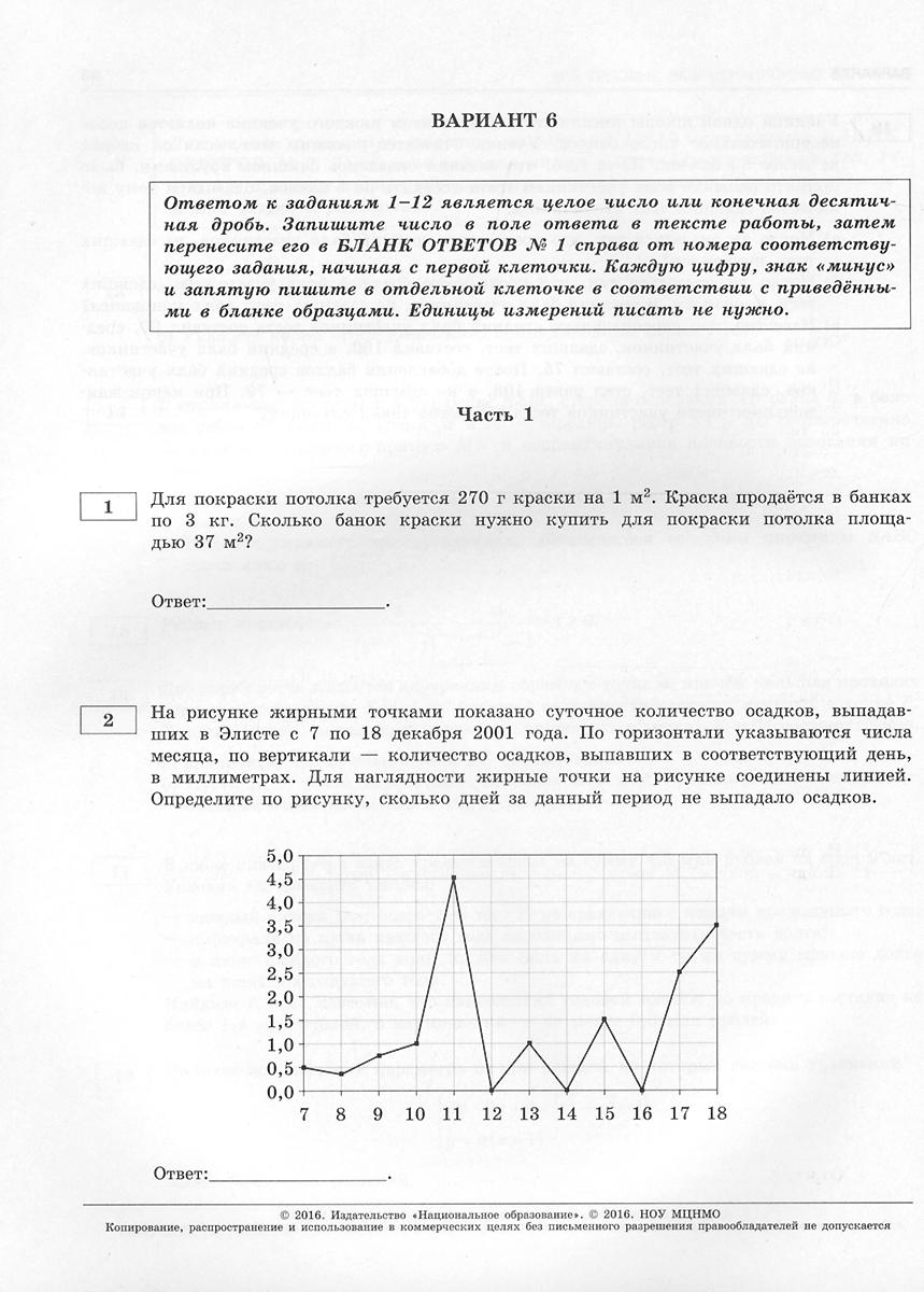 ЕГЭ-2016. Математика. Профильный уровень. Типовые экзаменационные варианты. 36 вариантов