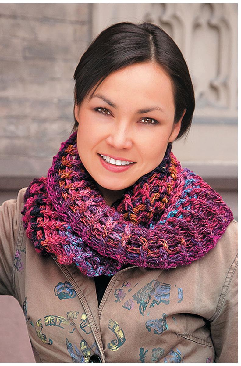 Объемные шарфы-снуды