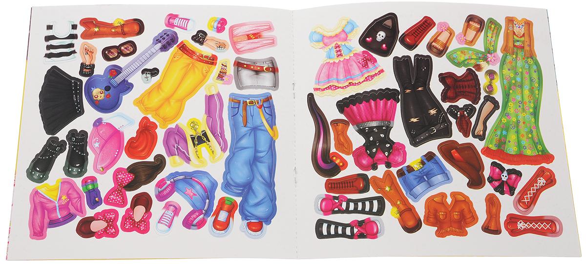 Певица. Модная мастерская. Многоразовые наклейки-костюмы