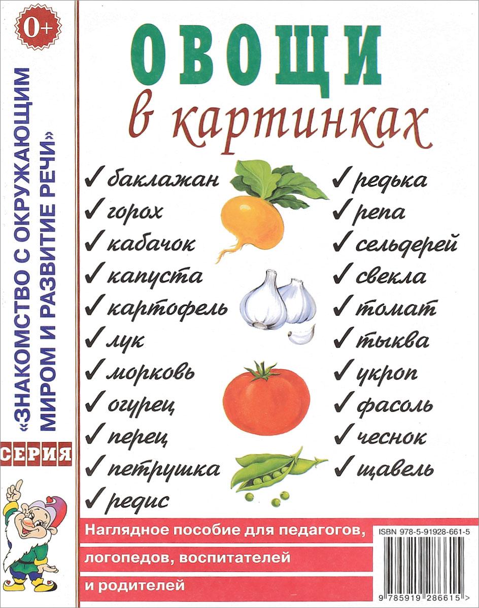 Овощи в картинках. Наглядное пособие для педагогов, логопедов, воспитателей, родителей