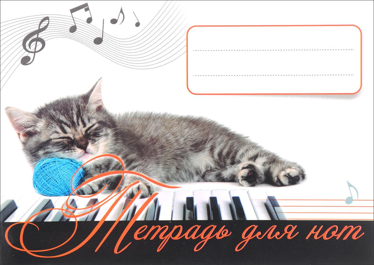 Тетрадь для нот. Котенок-музыкант