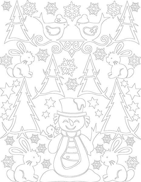 Снеговичок и его друзья. Набор для творчества