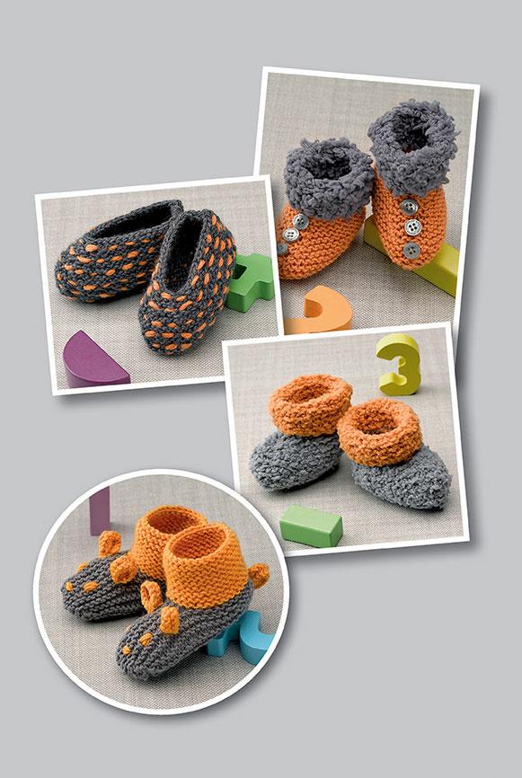 Вяжем домашнюю обувь для взрослых и детей