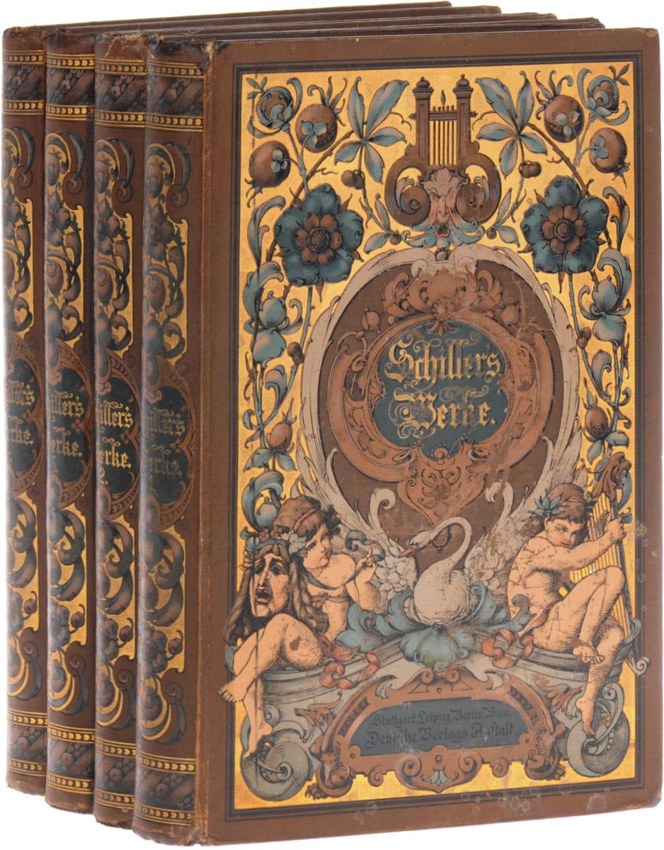 Сочинения Шиллера в 4 томах (комплект из 4 книг) Deutsche Verlags-Anstalt 1899