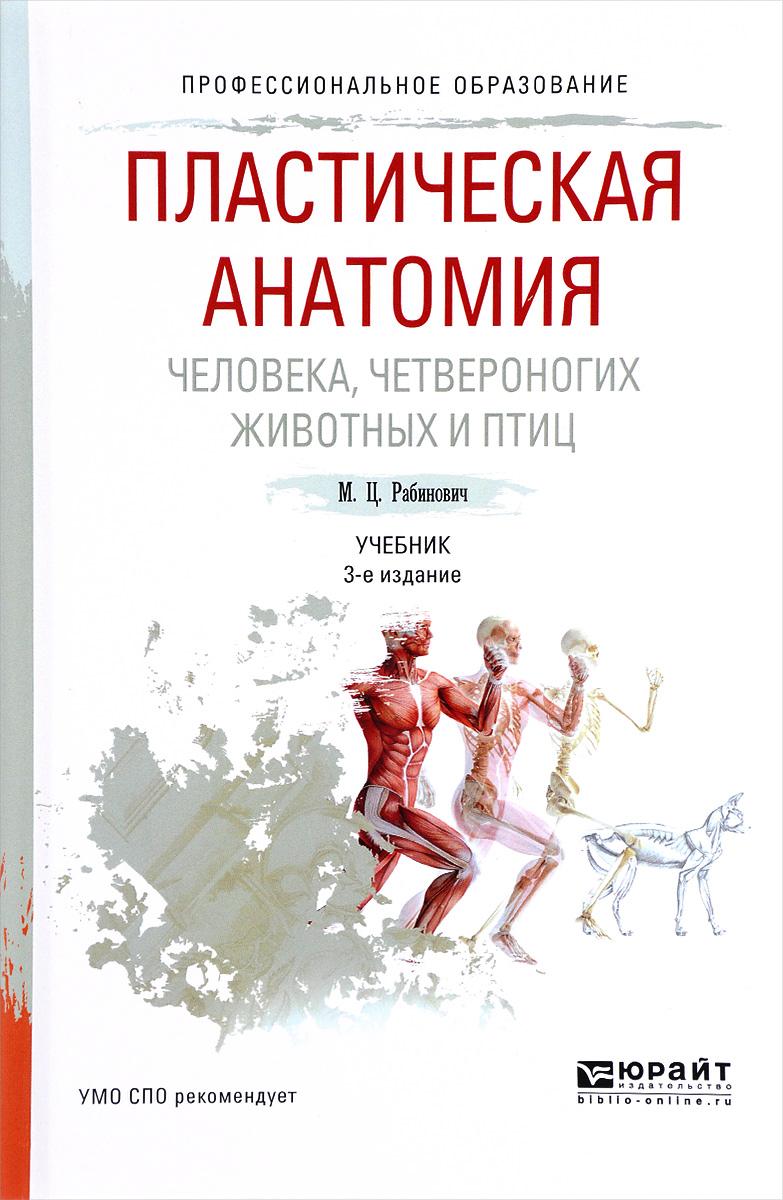 Пластическая анатомия человека, четвероногих животных и птиц. Учебник