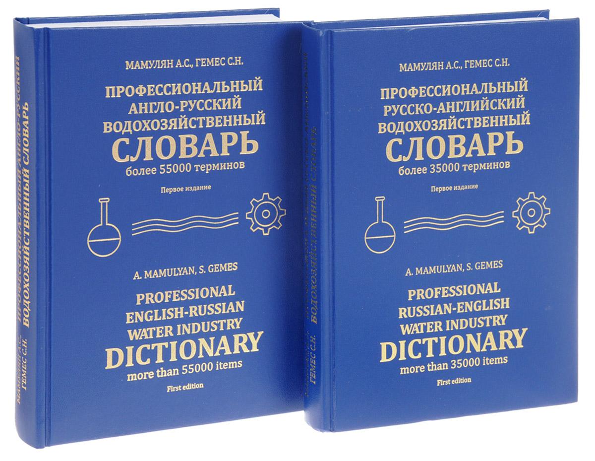 Professional Russian-English Water Industry Dictionary / Профессиональный русско-английский водохозяйственный словарь (комплект из 2 книг)