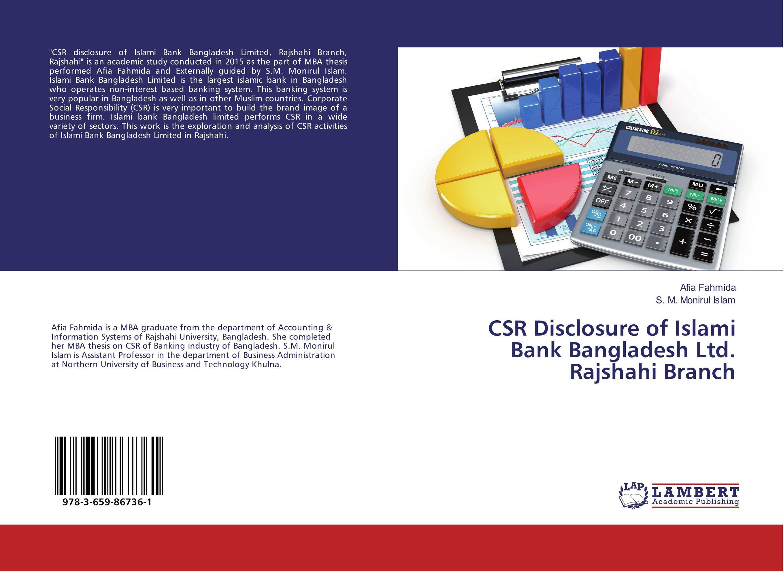 CSR Disclosure of Islami Bank Bangladesh Ltd. Rajshahi Branch