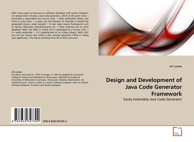 Design and Development of Java Code Generator Framework