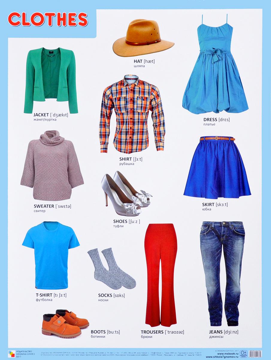 Clothes. Плакат