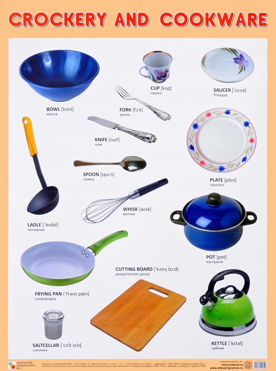 Crockery and Cookware. Плакат