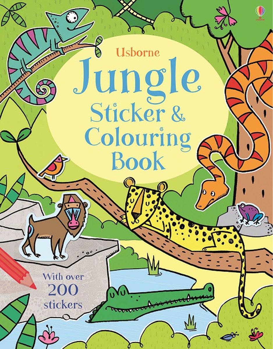 Alice Primmer Jungle Sticker and Colouring Book 38 parrots