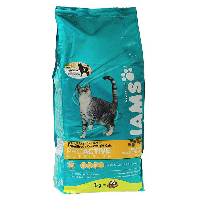 """Корм сухой Iams """"Proactive nutrition"""", для кошек с низкой активностью и склонностью к избыточному весу, с курицей"""