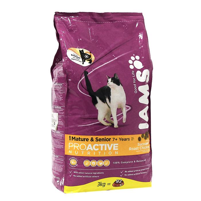 """Корм сухой Iams """"Proactive nutrition"""", для пожилых и старых кошек, с курицей"""
