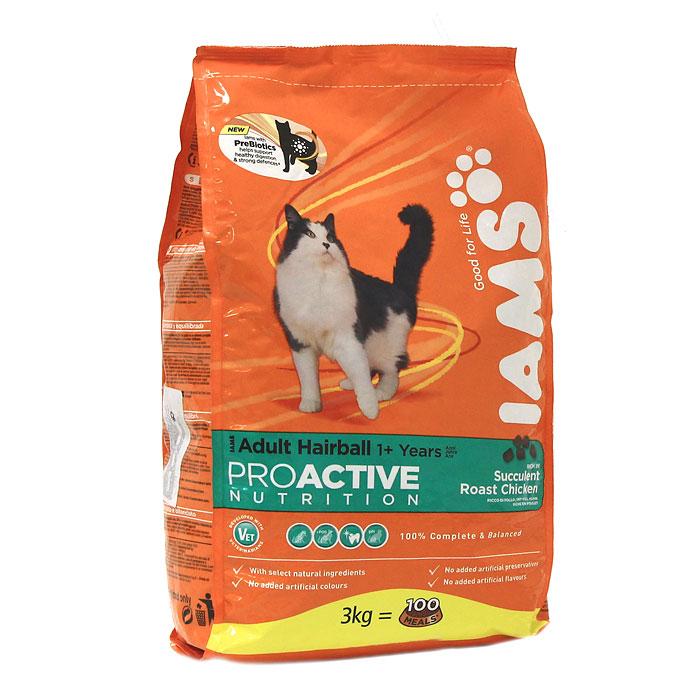 """Корм сухой Iams """"Proactive nutrition"""", для кошек, для выведения шерсти, с курицей"""