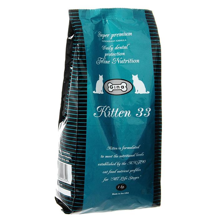 """Корм сухой Gina """"Kitten 33"""", для котят, беременных и кормящих кошек"""
