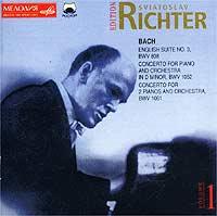 Английская сюита № 3 соль минор, BWV 808 - 1-6 треки Концерт для фортепиано с оркестром ре минор, BWV 1052 - 7-9 треки Концерт для двух фортепиано с оркестром до мажор, BWV 1061 - 10-12 треки