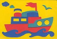 Пароходик. Мягкая мозаика45307Мозаики и конструкторы серии Флексика развивают у ребенка память, воображение, моторику, пространственное и логическое мышление. Обучение происходит прямо во время игры. Благодаря особой структуре материала и свойству прилипать к мокрой поверхности, являются идеальной игрушкой для ванны. Мозаики и конструкторы серии Флексика выполнены из мягкого, прочного, нетоксичного, абсолютно безопасного материала. Протестированы в лабораториях, имеют сертификаты качества. УВАЖАЕМЫЕ КЛИЕНТЫ! Обращаем ваше внимание на возможные изменения в дизайне, связанные с ассортиментом продукции: цвет изделия или отдельных деталей может отличаться от представленного на изображении. Поставка осуществляется в зависимости от наличия на складе.